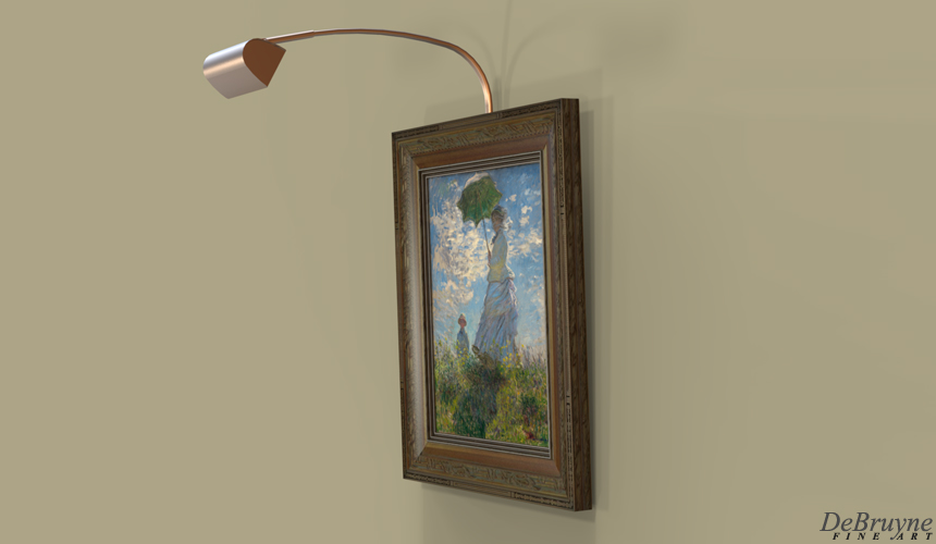 Designspring lighting product portfolio precise optics uniformly illuminate individual paintings without lighting adjacent walls or frames aloadofball Choice Image
